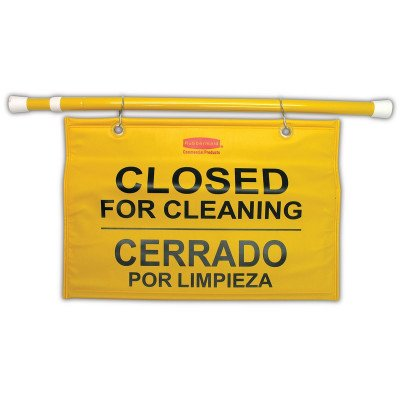 Hanging 'Closed for Cleaning' Safety Sign