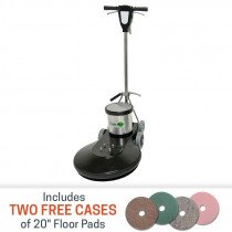 Task-Pro Ultra High Speed Floor Burnisher Package with Pads